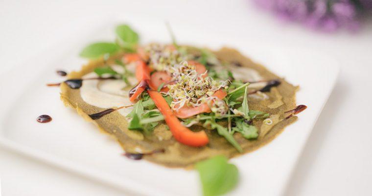 Glutenfreie und vegane Wraps mit hohem Proteinanteil