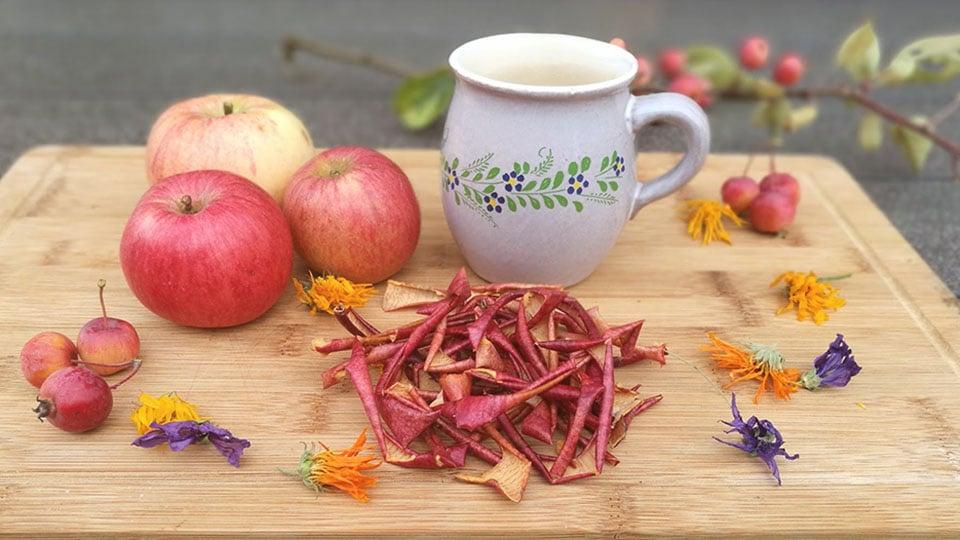 Apfelschalen – Tipps für einen tollen Tee!