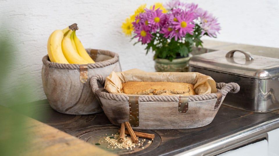 Schnelles Bananenbrot – glutenfrei, vegan, gesund