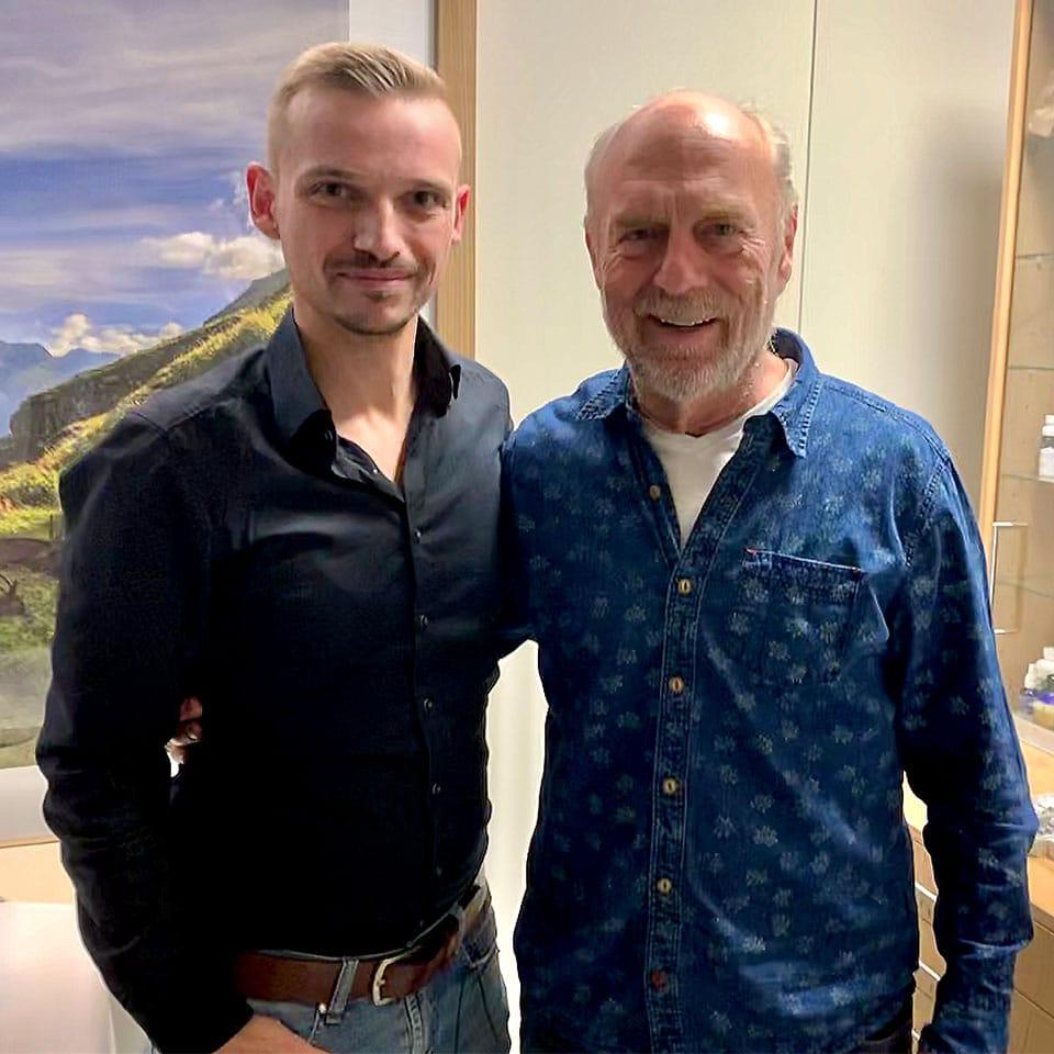 Alex vom Kräuterkeller mit Dr. med. Dietrich Klinghardt
