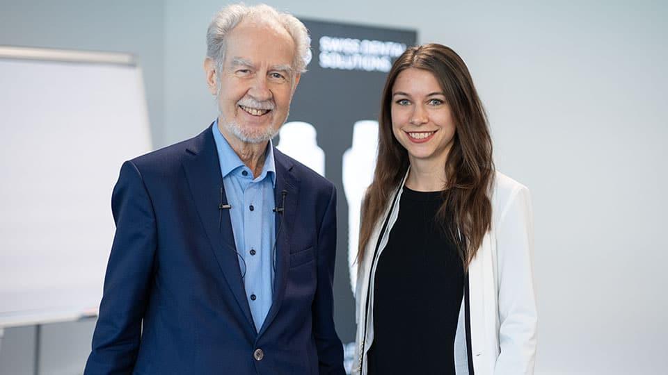 Sandra vom Kräuterkeller mit Prof. Dr. Spitz
