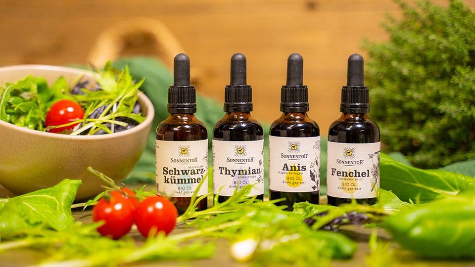 Kräuter Essenzöle von Sonnentor für Küche und die Hausapotheke