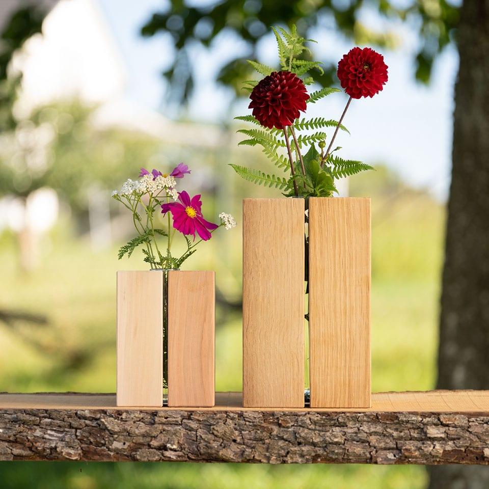 Größenvergleich der Vasen