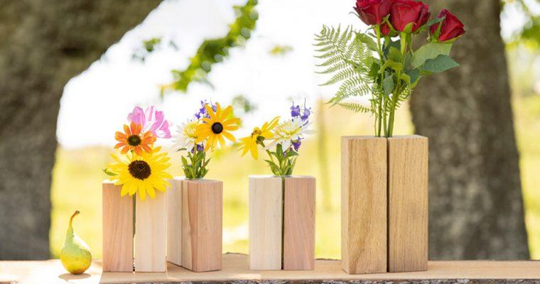 Wir geben totem Holz ein neues Leben – unsere handgemachten Holzvasen aus eigener Produktion