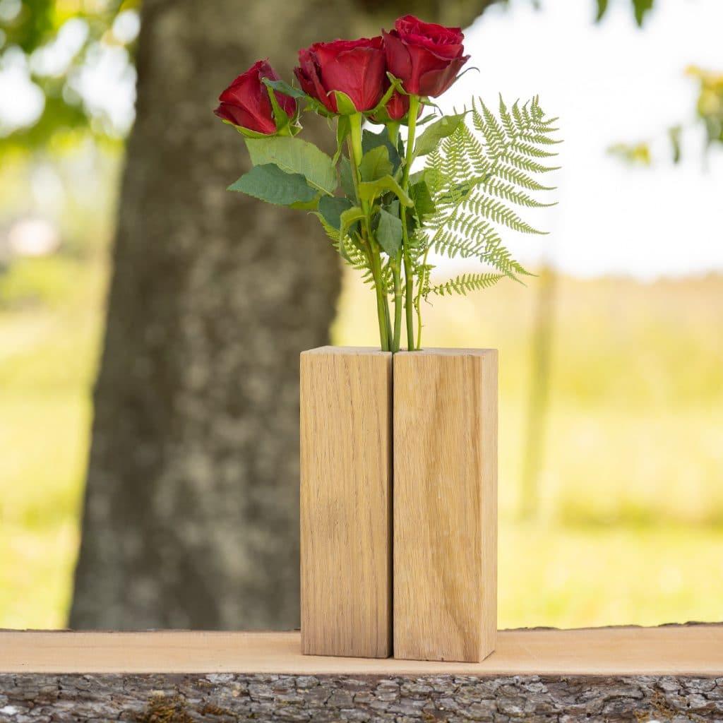 Unsere Holzvase mit Eichenholz