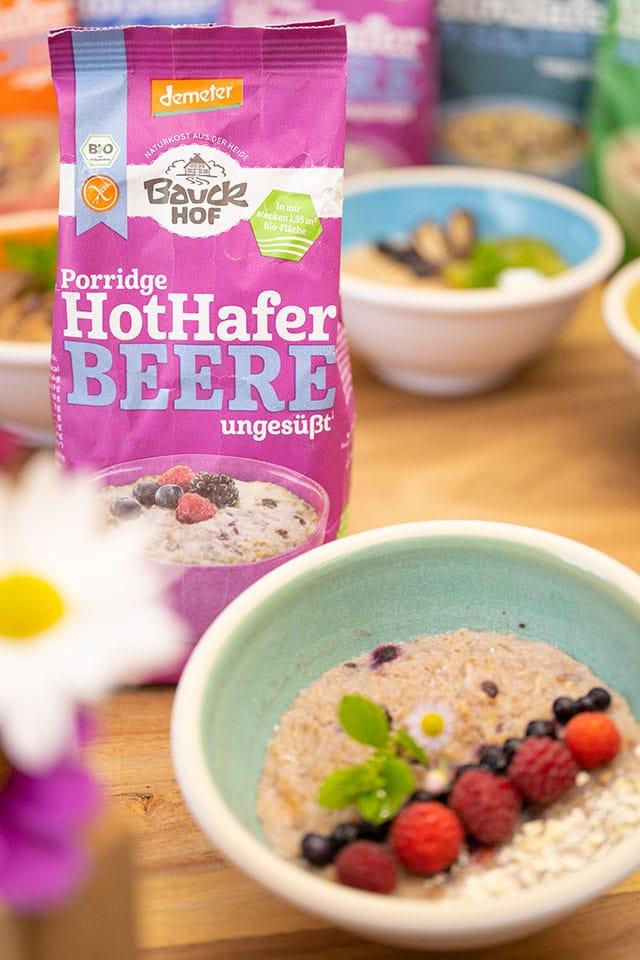 Glutenfreies Porridge von Bauckhof