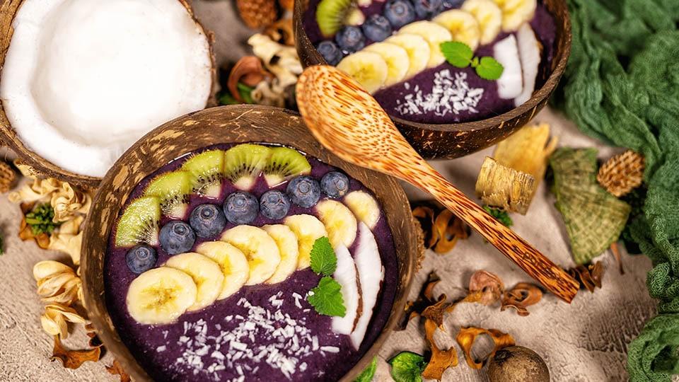 Kokosschalen für ein nachhaltiges Frühstück mit pandoo