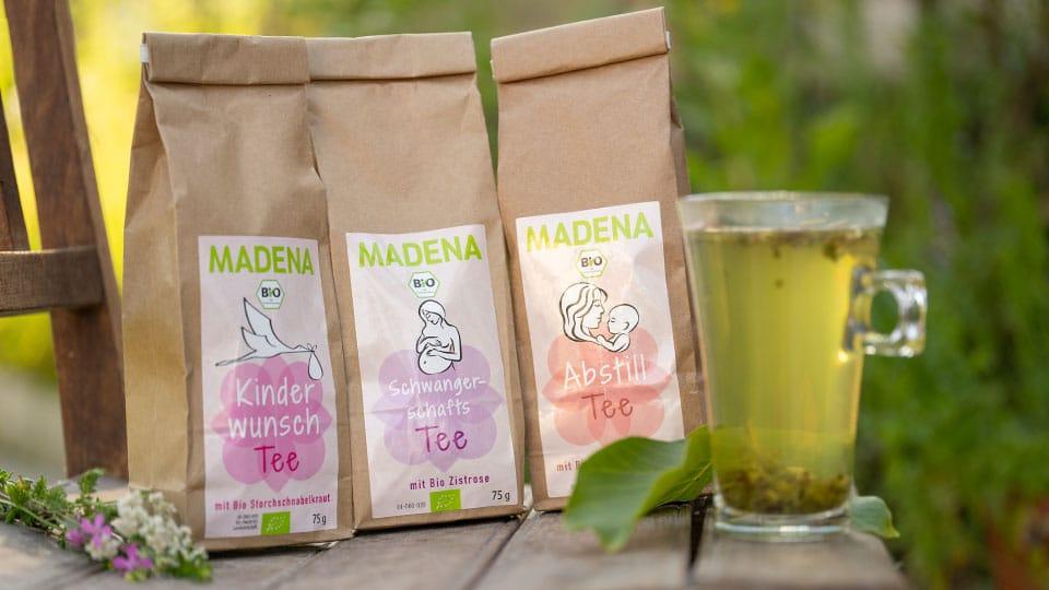 Die Teeauswahl von Madena