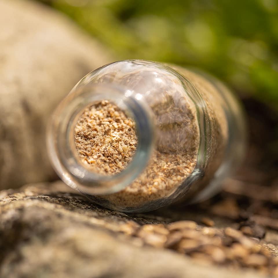 Gemahlene Samen der Mariendistel