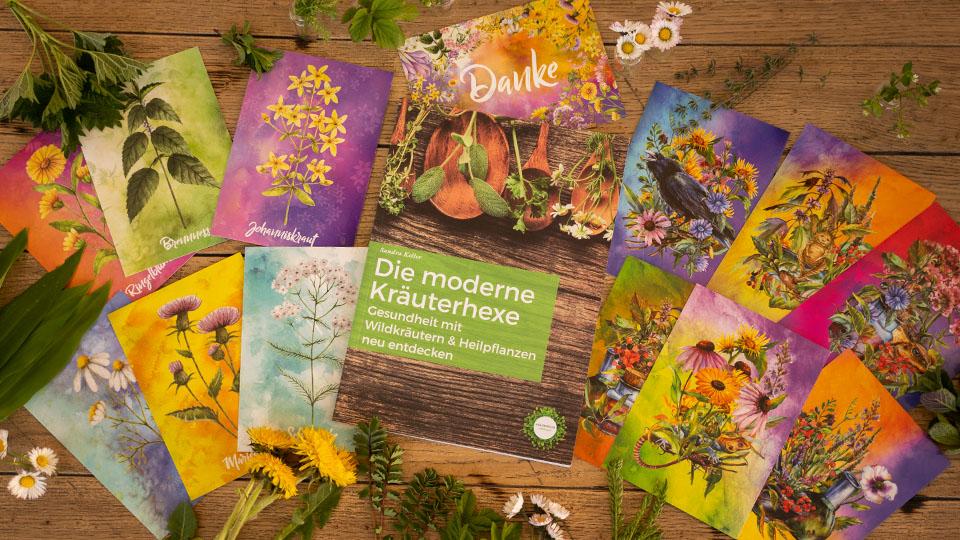 Die moderne Kräuterhexe und die Postkartensets