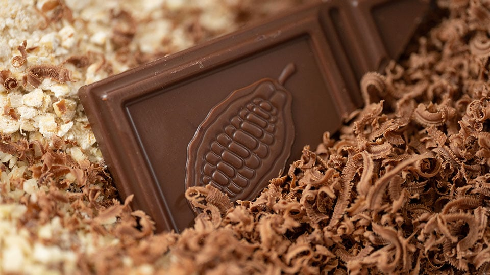 Naturata Schokolade gerieben