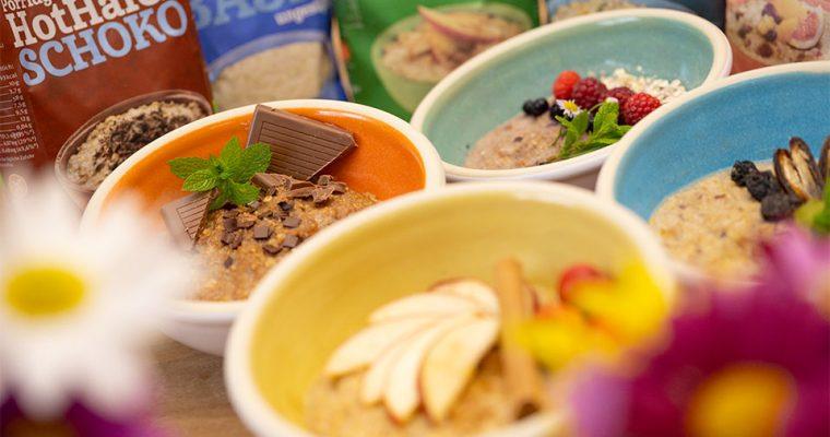Porridge Vielfalt mit den glutenfreien Hot Hafer Sorten von Bauckhof