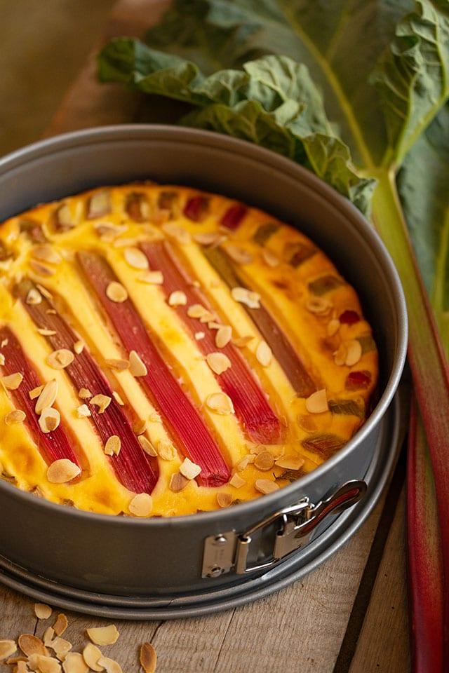 Rezept für glutenfreien Rhabarberkuchen