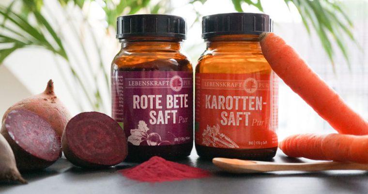 Betain und Beta-Carotin aus Rote Bete und Karotten Saftpulver