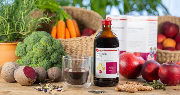 Sekundäre Pflanzenstoffe aus Obst und Gemüse im Vitalkomplex von Dr. Wolz