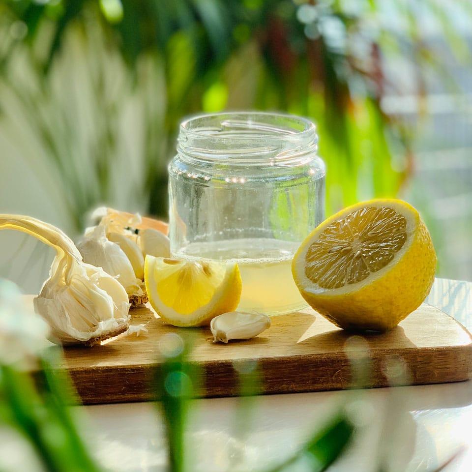 Rezept für die Knoblauch Zitronen Kurs