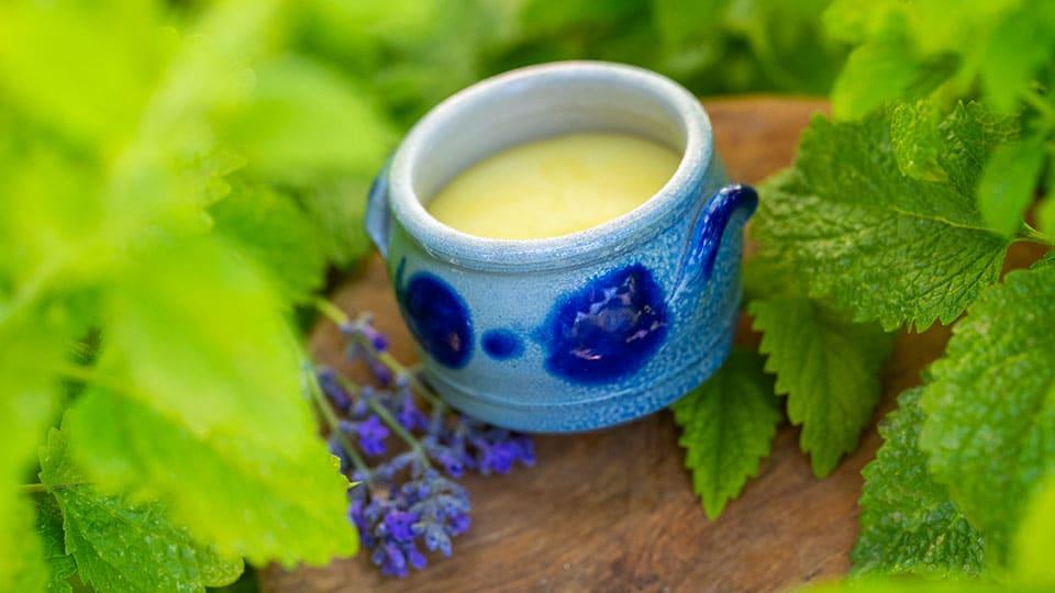 Lippenpflege aus Zitronenmelisse gegen Herpes